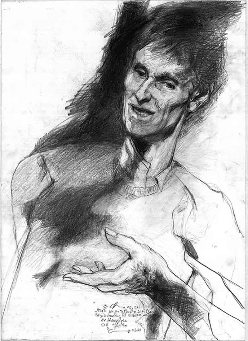 """Ennio Calabria """"Studio per un ritratto di Alberto. Asimmetrie del dubbio"""", 2021"""